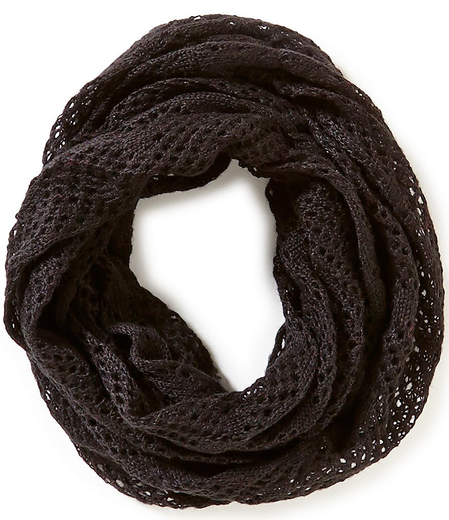 Copper Key Girls Open-Knit Infinity Scarf