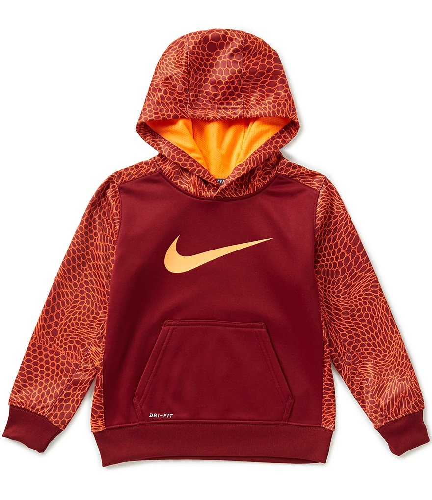 Nike Little Boys 4-7 Swoosh Therma Fleece Pull-Over Hoodie