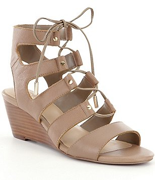 Reba Bowen Lace Up Wedge Sandals