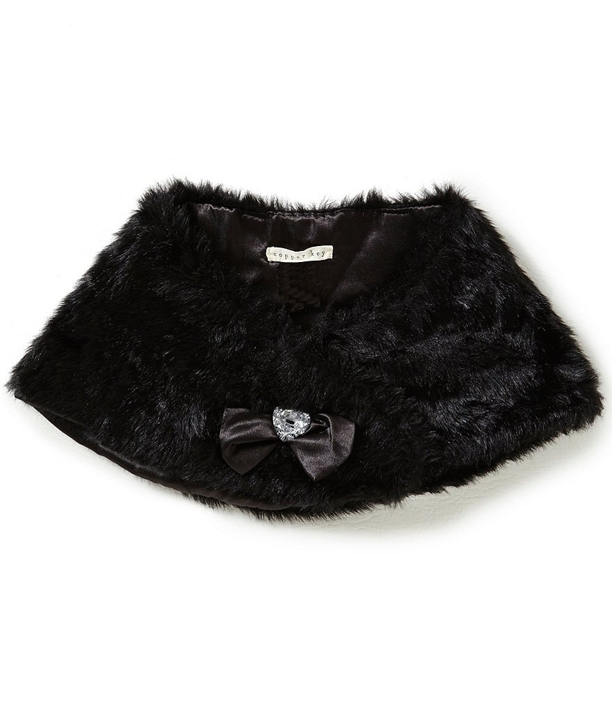 Copper Key Girls Faux-Fur Shawl