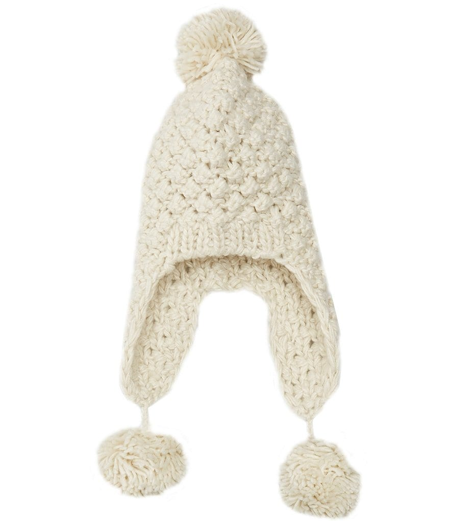 Copper Key Girls Popcorn Pom Hat