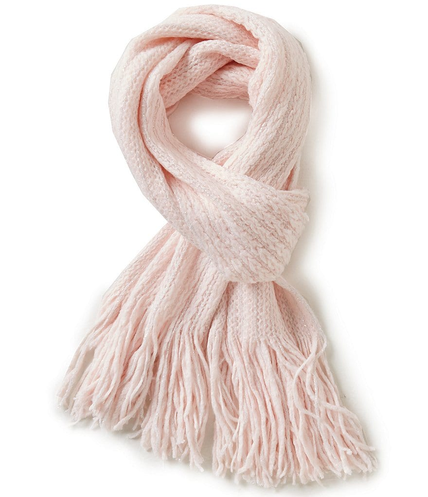 Copper Key Girls Cable Lurex Scarf