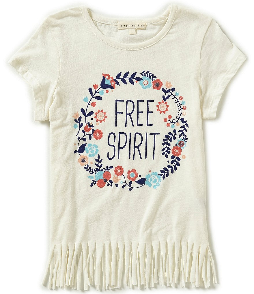 Copper Key Little Girls 4-6X Free Spirit Fringe Tee