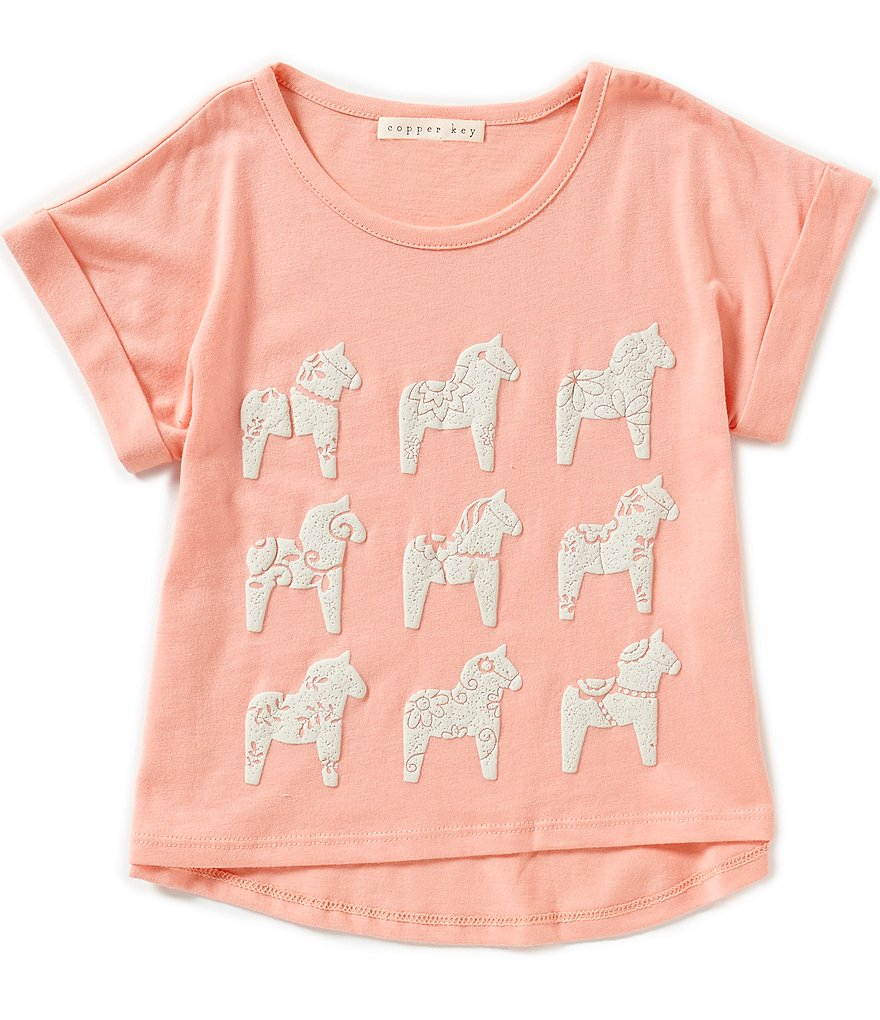 Copper Key Little Girls 2T-6X Horse Tee
