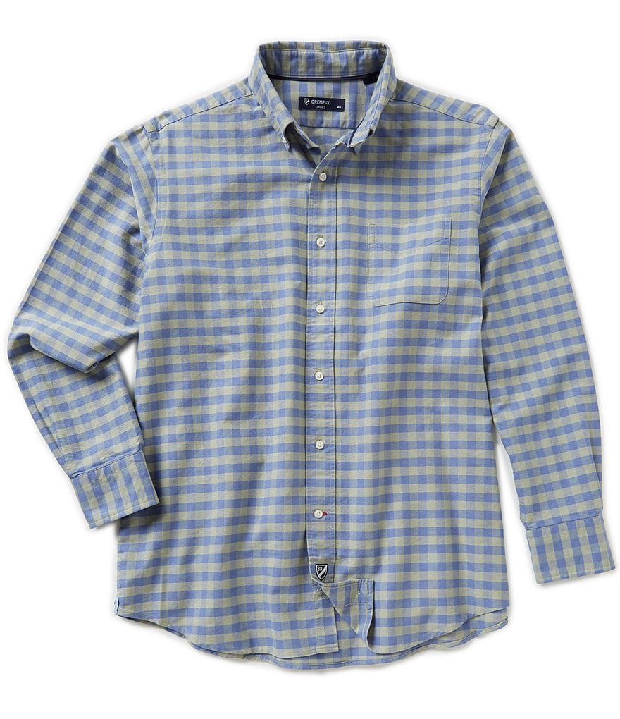Cremieux Big & Tall Long-Sleeve Check Oxford Woven Shirt