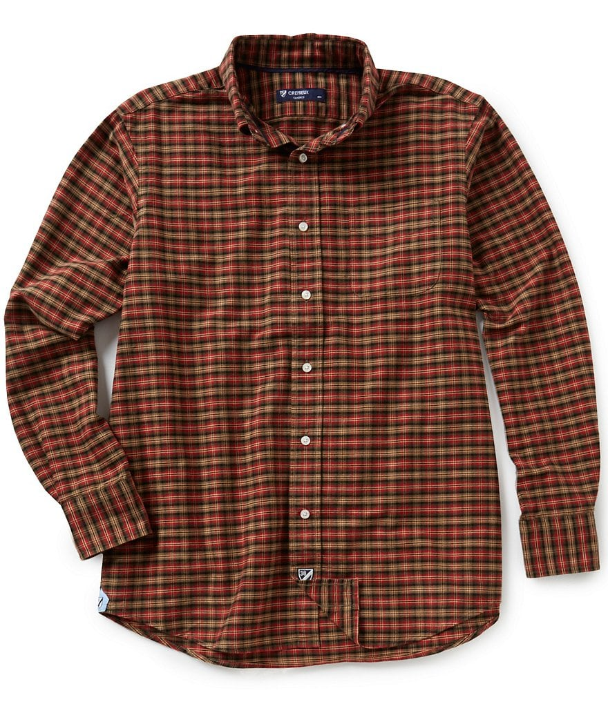 Cremieux Big & Tall Long-Sleeve Plaid Oxford Woven Shirt