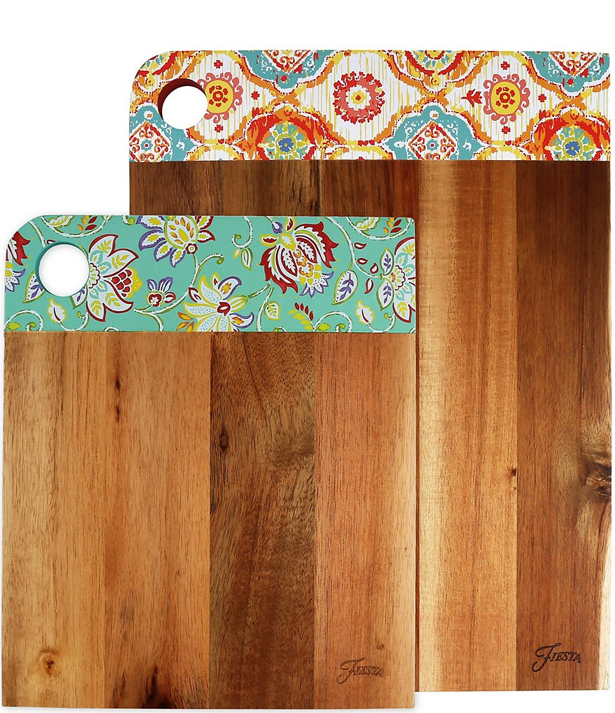 Fiesta 2-Piece Acacia Wood Cutting Board Set