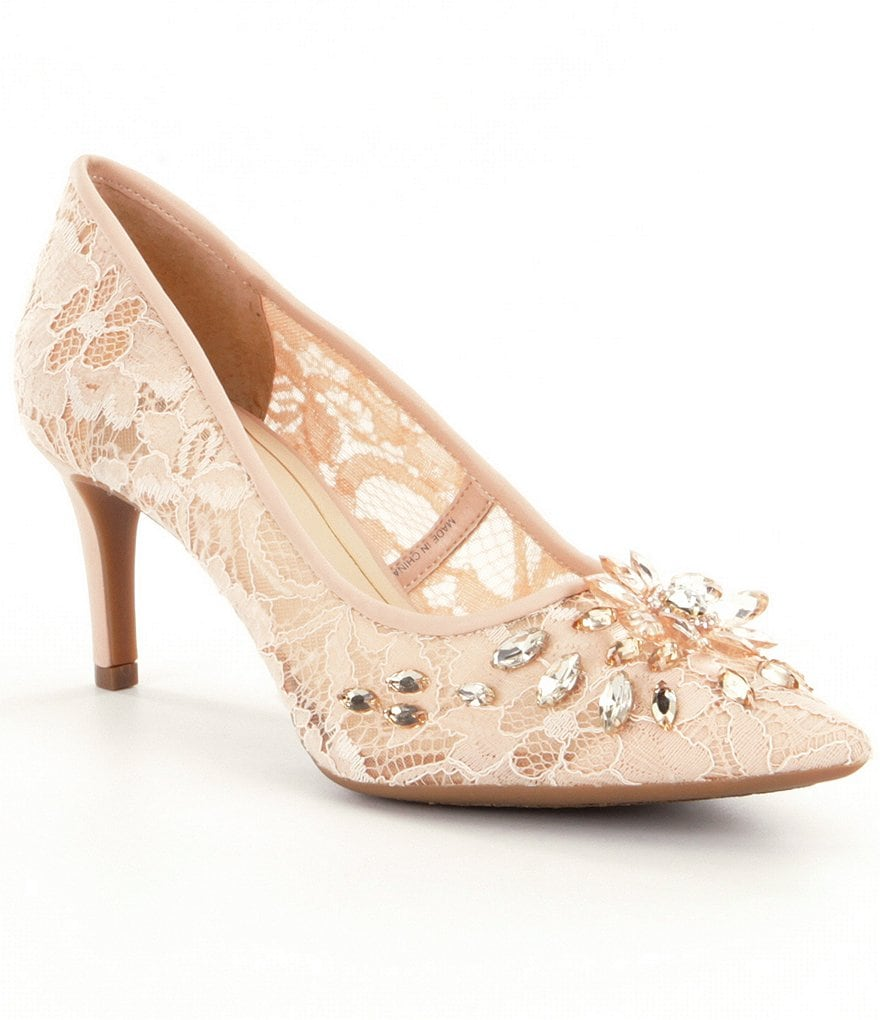Alex Marie Laicy Jeweled Pumps