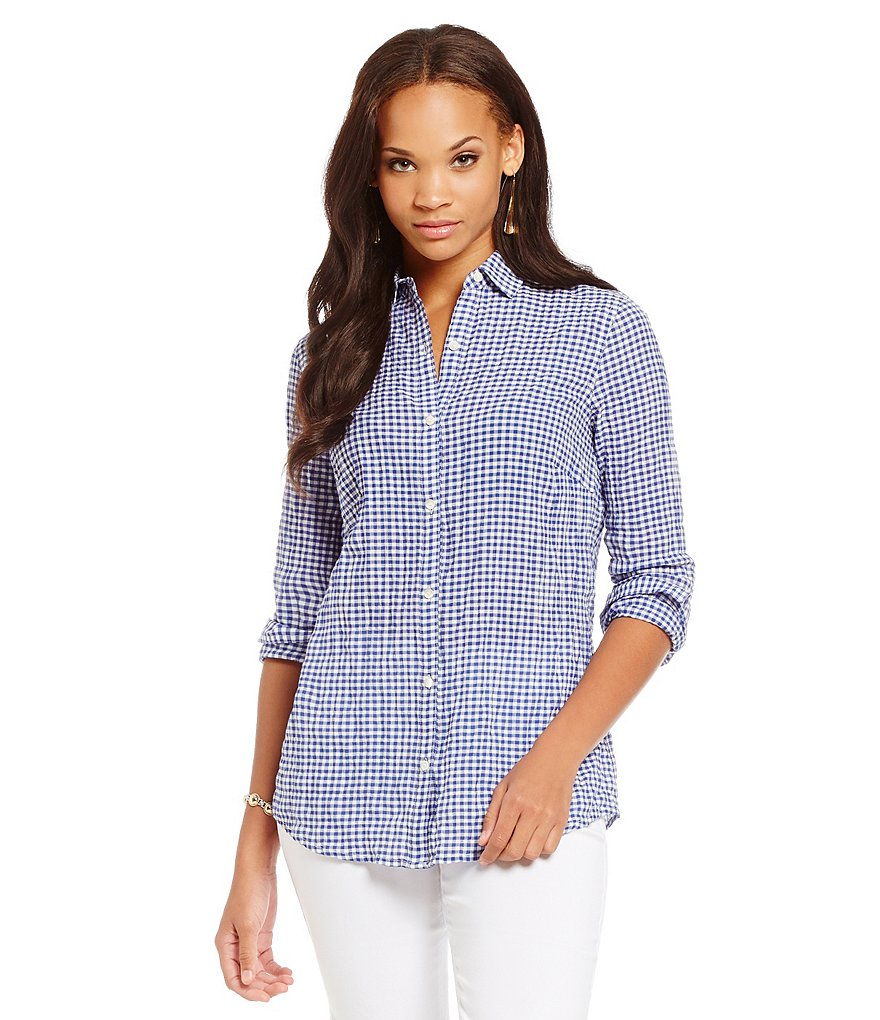 J.McLaughlin Lois Gingham Tunic Top