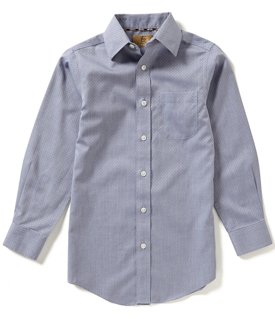 Class Club Gold Label Big Boys 8-20 Denim Texture Woven Shirt