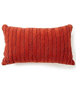 Moderne by Noble Excellence Herringbone-Stitched Pillow