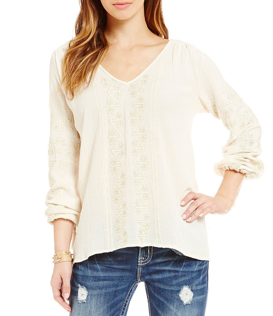 Billabong Sunny Dazer Embroidered Top
