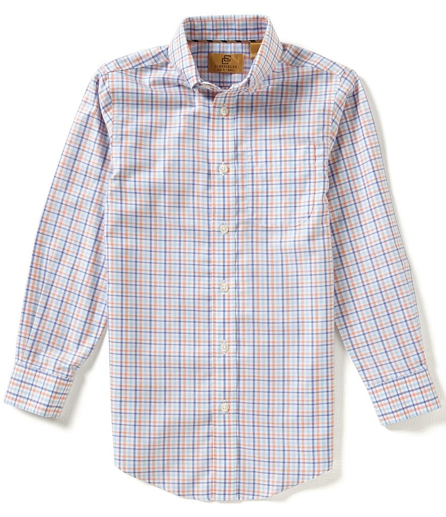 Class Club Gold Label Big Boys 8-20 Check Woven Shirt
