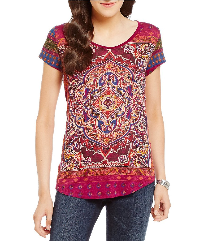 Lucky Brand Persian Carpet Print Graphic Tee