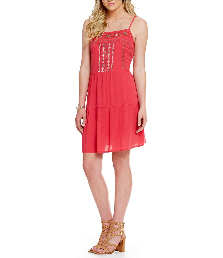 C&V Chelsea & Violet Sleeveless Embroidered Dress