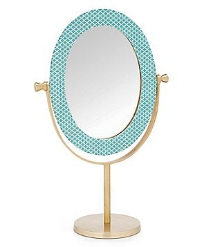 Studio D Fabric Tile Oval Mirror