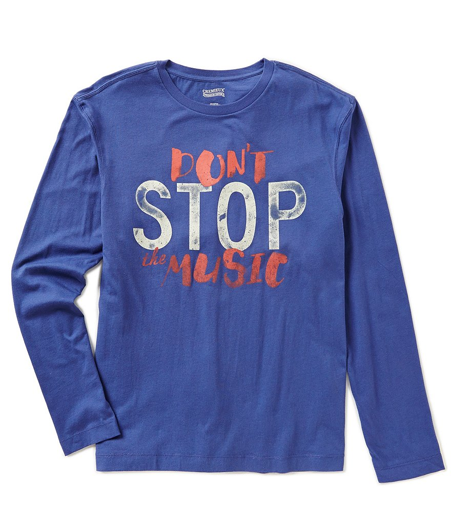 Cremieux Jeans Long-Sleeve Don't Stop The Music Graphic Tee