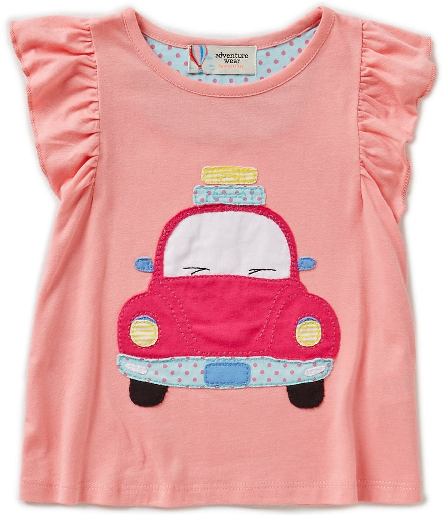 Adventure Wear by Copper Key Little Girls 2T-4T Pink Car Top