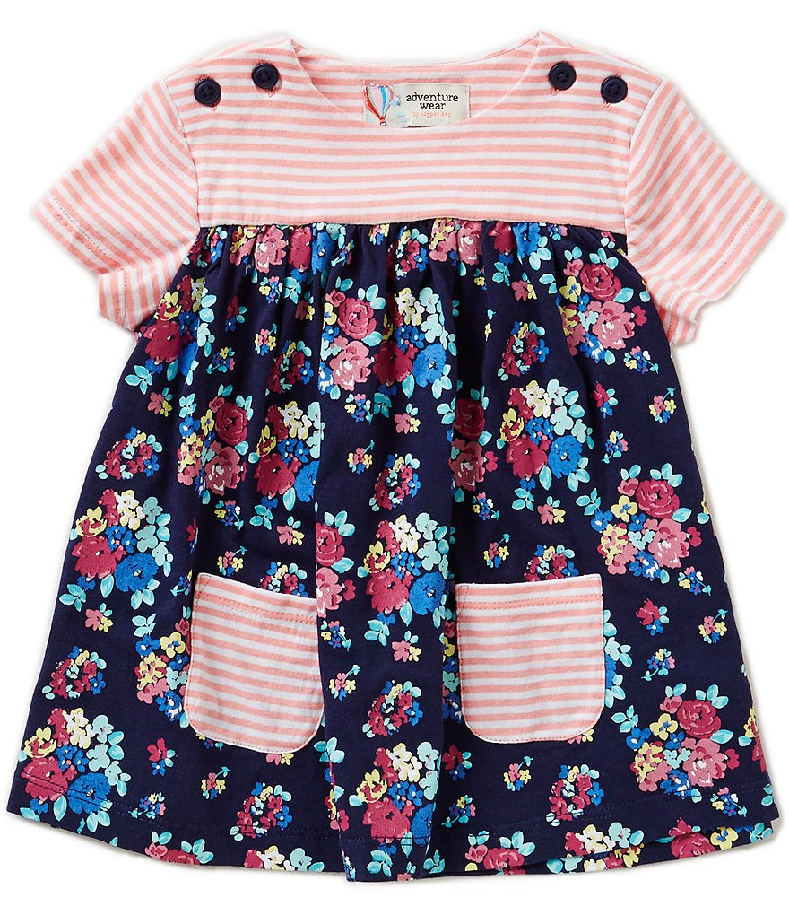 Adventure Wear by Copper Key Little Girls 2T-4T Flower Shirt