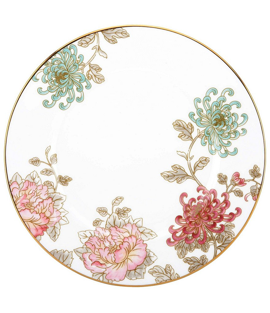 Marchesa by Lenox Painted Camellia Vintage Floral Gold Bone China Dinner Plate