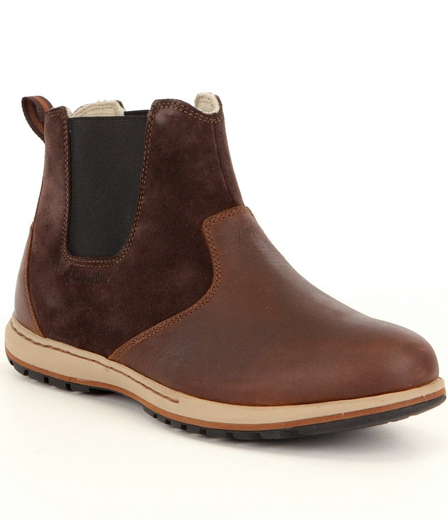 columbia 180 s davenport waterproof chelsea boots dillards