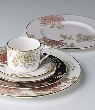Marchesa by Lenox Painted Camellia Vintage Floral Bone China
