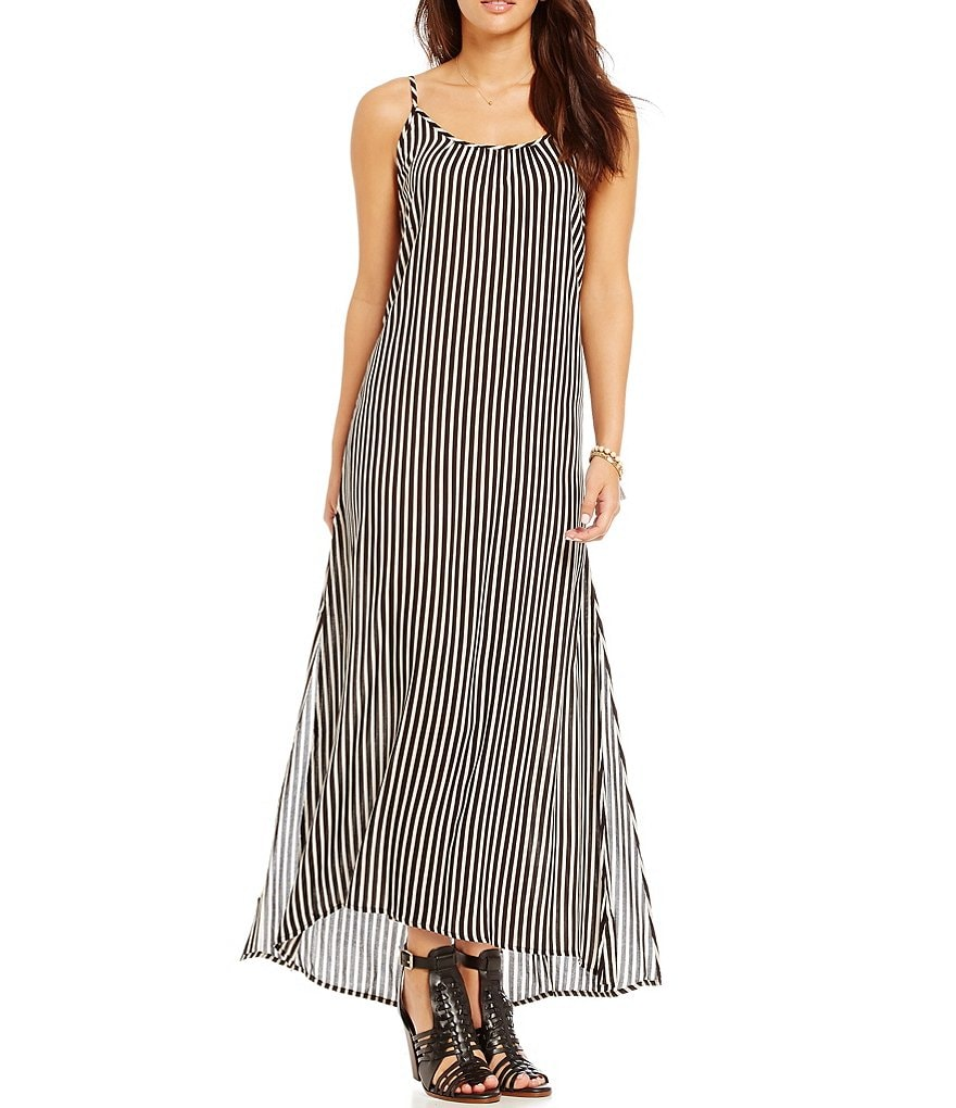 Billabong Easy Does It Striped Maxi Dress