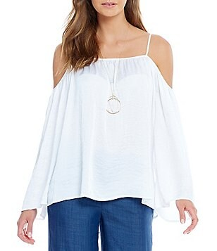 Vince Camuto Cold-Shoulder Rumple Blouse