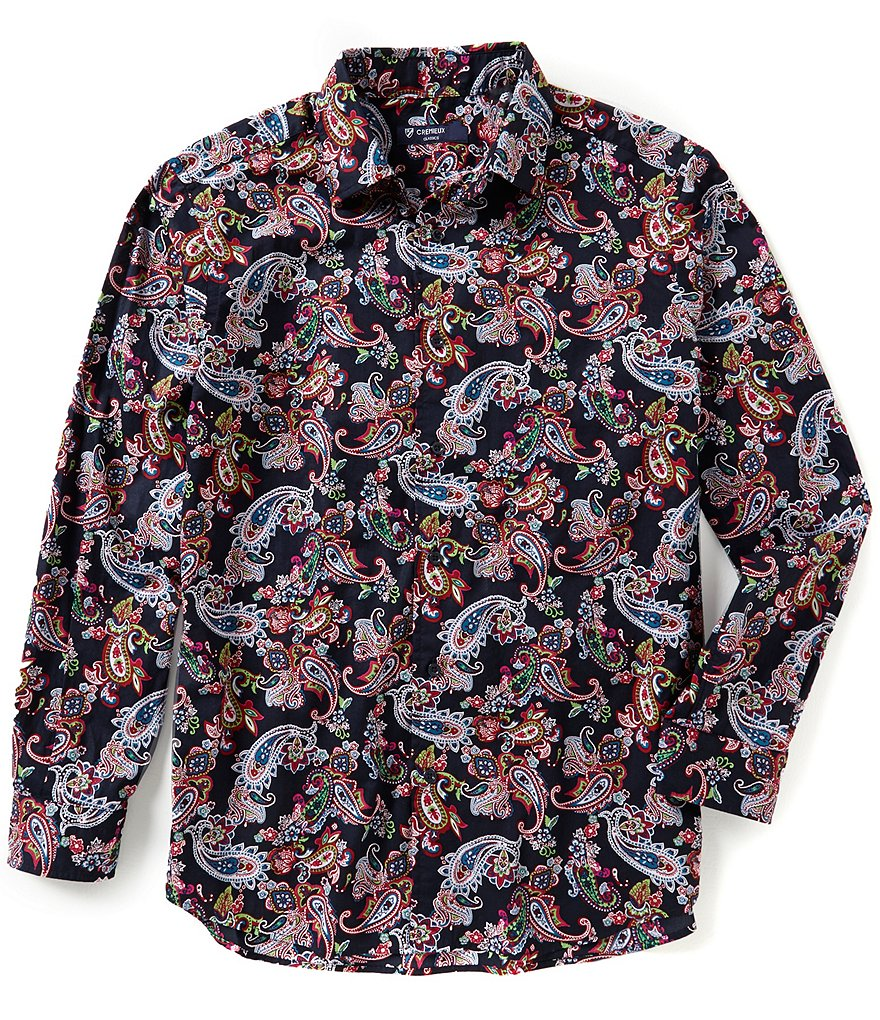 Cremieux Long-Sleeve Paisley Woven Shirt