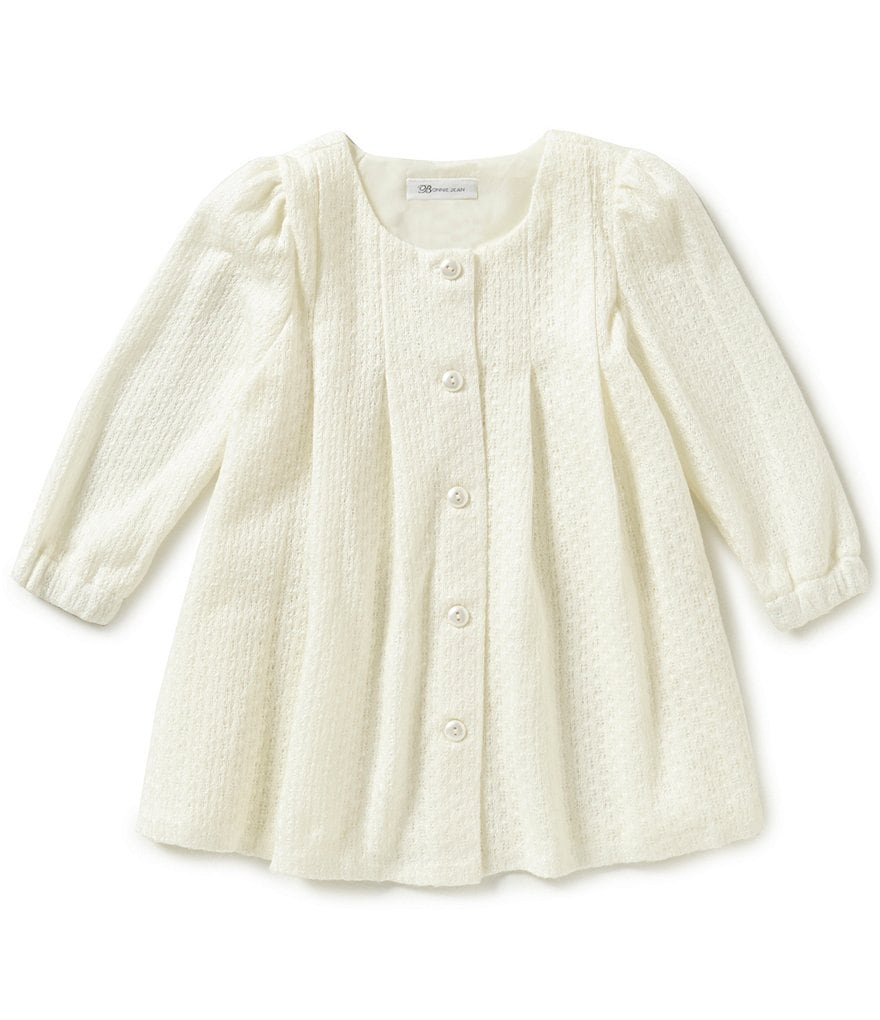 Bonnie Jean Little Girls 2T-6X Sweater Knit Coatigan