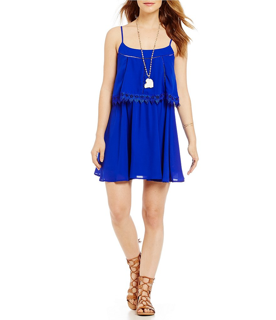 GB Fan Fav Crochet Trim Popover Dress