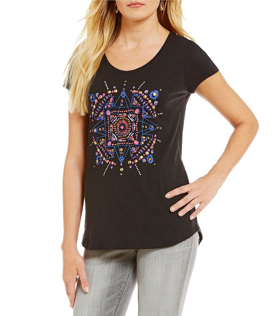 Lucky Brand Mandala Dots Graphic Tee
