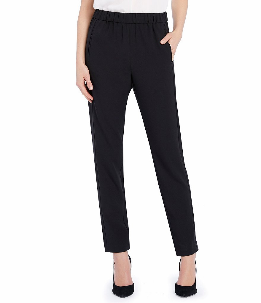 Ellen Tracy Tailored Pull-On Crepe Pants