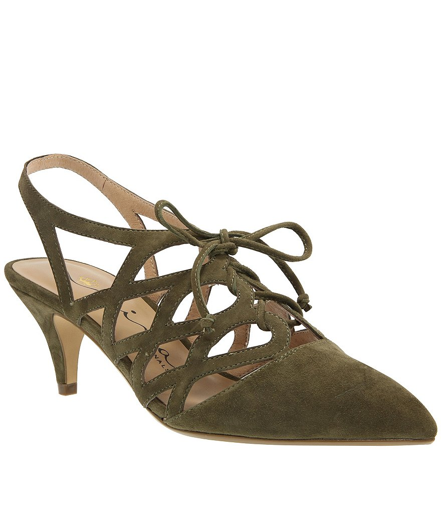 Nina Originals Francie Caged Lace Up Pumps