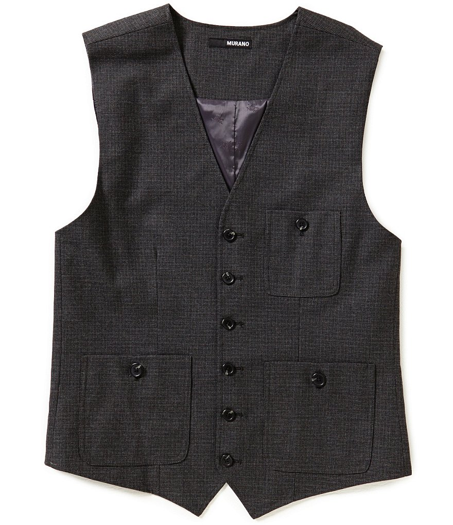 Murano Checked Patch-Pocket Vest