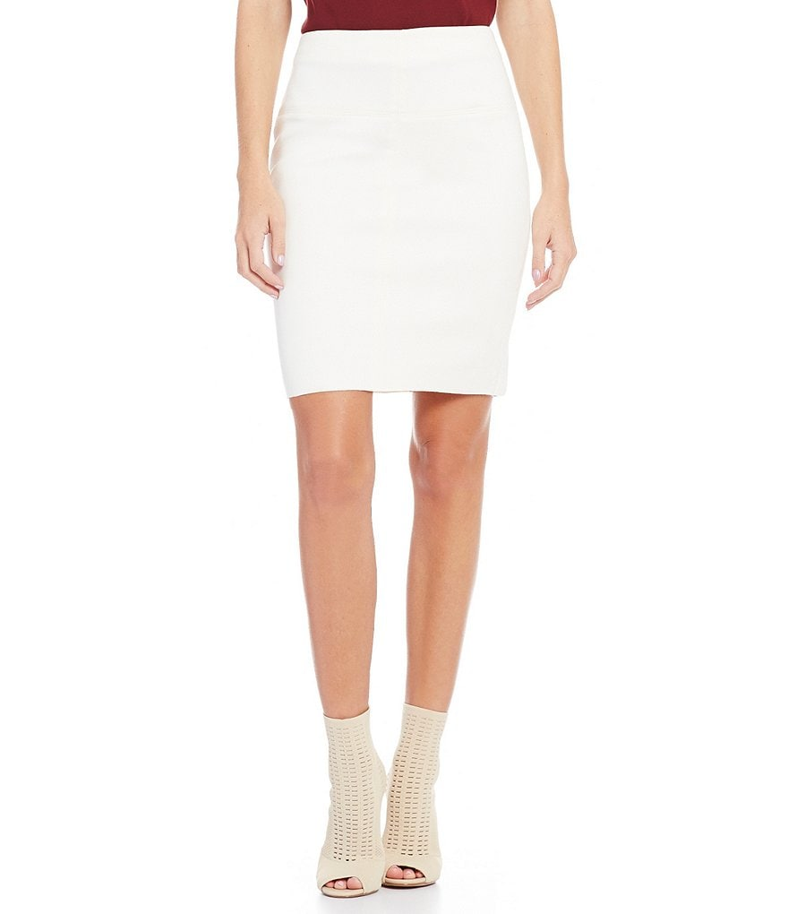 kensie Scuba Suede Pencil Skirt