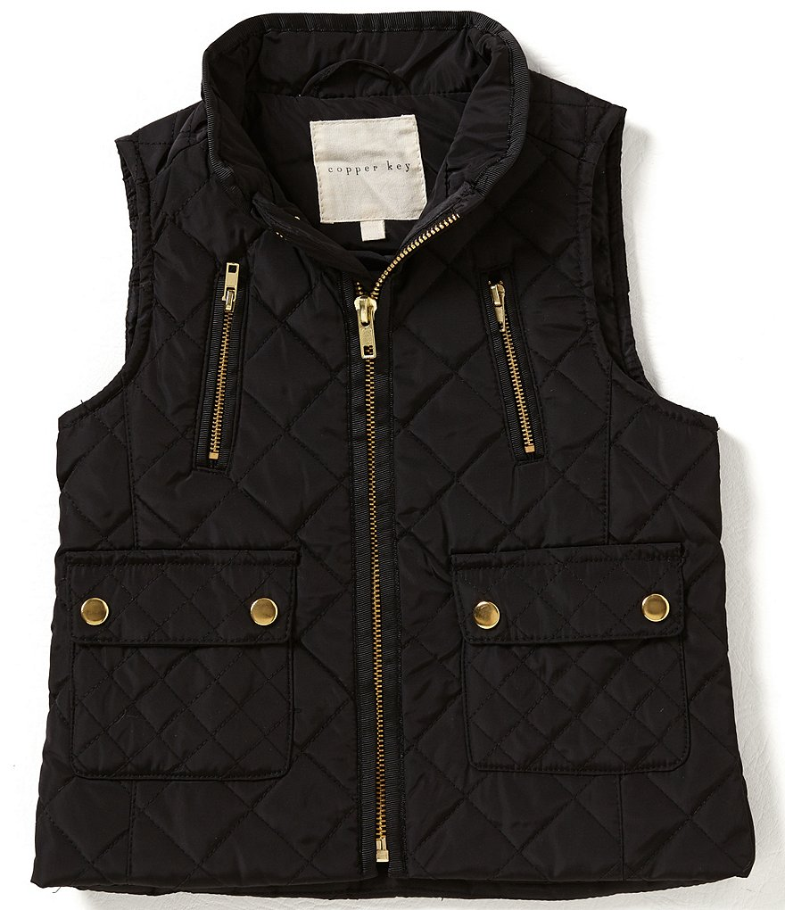 Copper Key Little Girls 2T-6X Quilted Vest