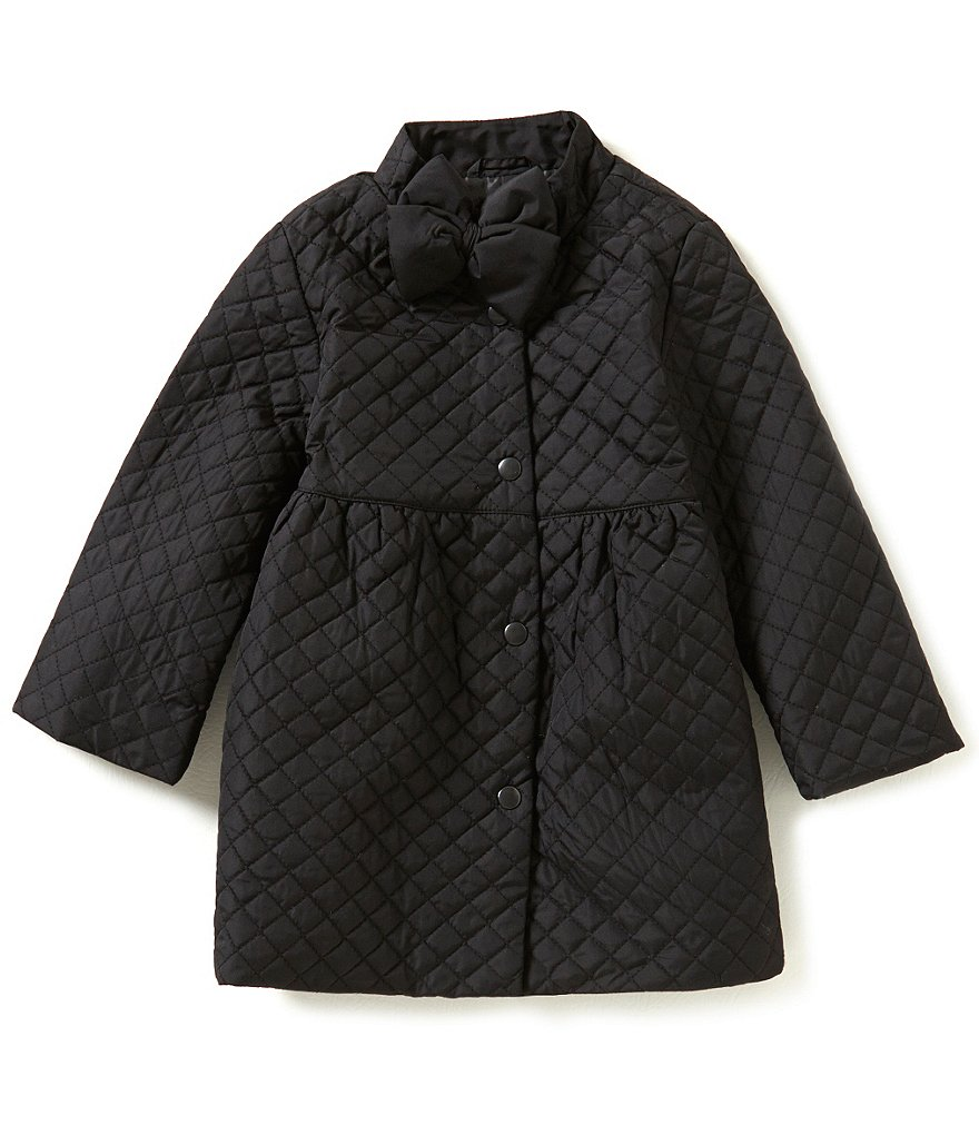 Copper Key Little Girls 2T-6X Quilted Bow Jacket