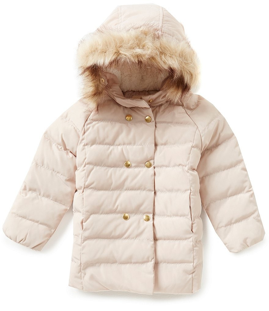 Copper Key Little Girls 2T-6X Faux-Fur Puffer Jacket