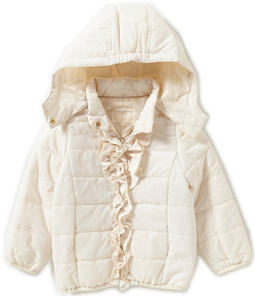 Copper Key Little Girls 2T-6X Ruffle-Front Jacket