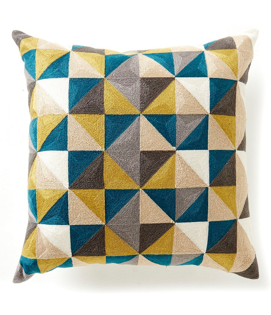 Moderne by Noble Excellence Geometric Canvas Square Pillow