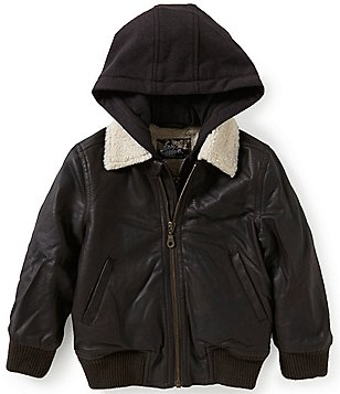 First Wave Little Boys 2T-7 Hooded Sherpa-Collar Jacket