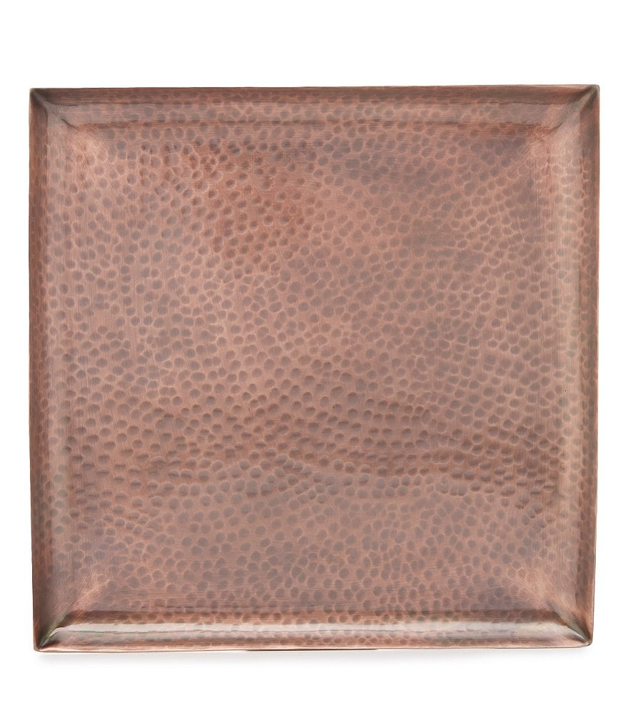 Noble Excellence Hammered Copper Tray