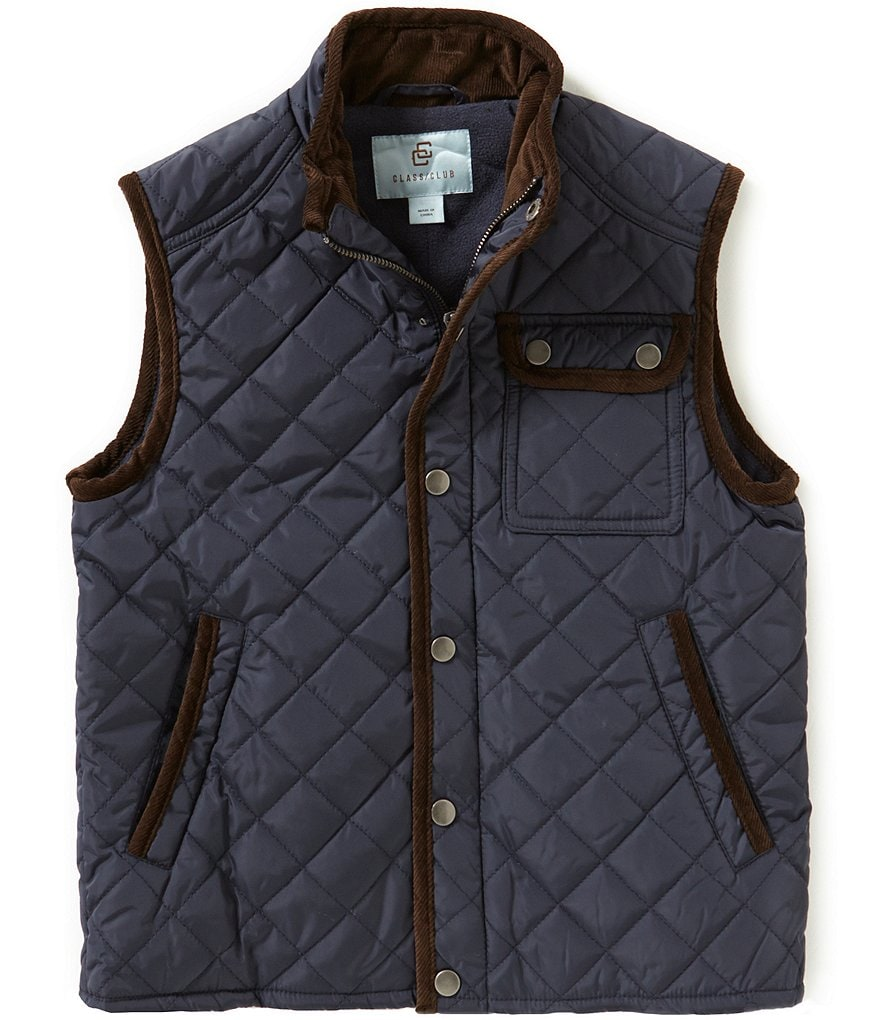 Class Club Big Boys 8-20 Quilted Nylon Vest