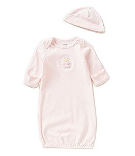 Little Me Baby Girls Newborn-3 Months Sweet Bear Gown Image