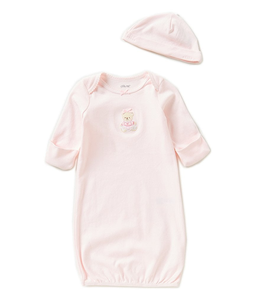 Little Me Baby Girls Newborn-3 Months Sweet Bear Gown