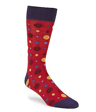 Bugatchi Mercerized Dot Mid-Calf Socks
