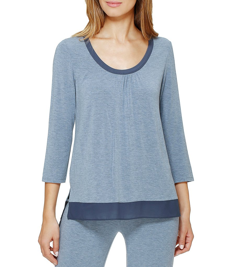 DKNY Solid Jersey Knit Sleep Top
