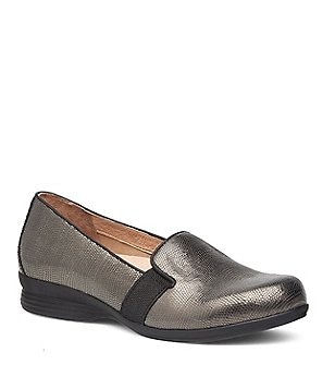 Dansko Addy Metallic Lizard Loafers