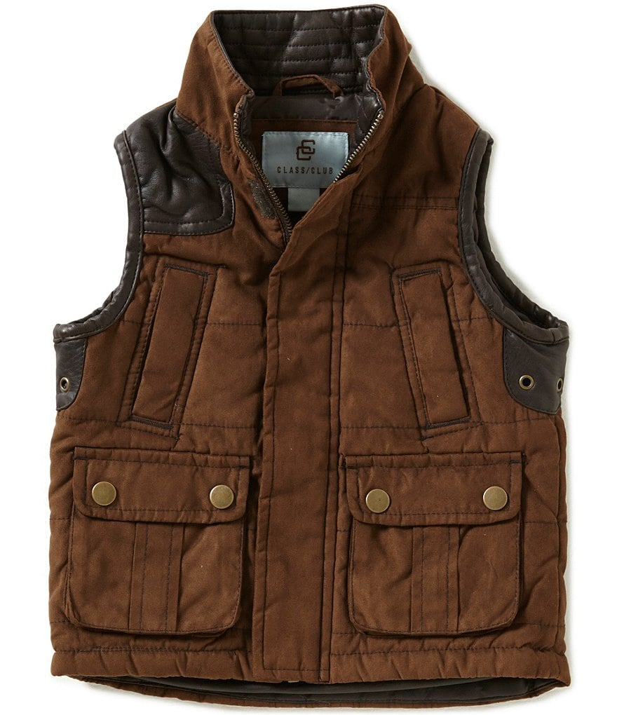 Class Club Little Boys 2T-7 Faux Suede Vest